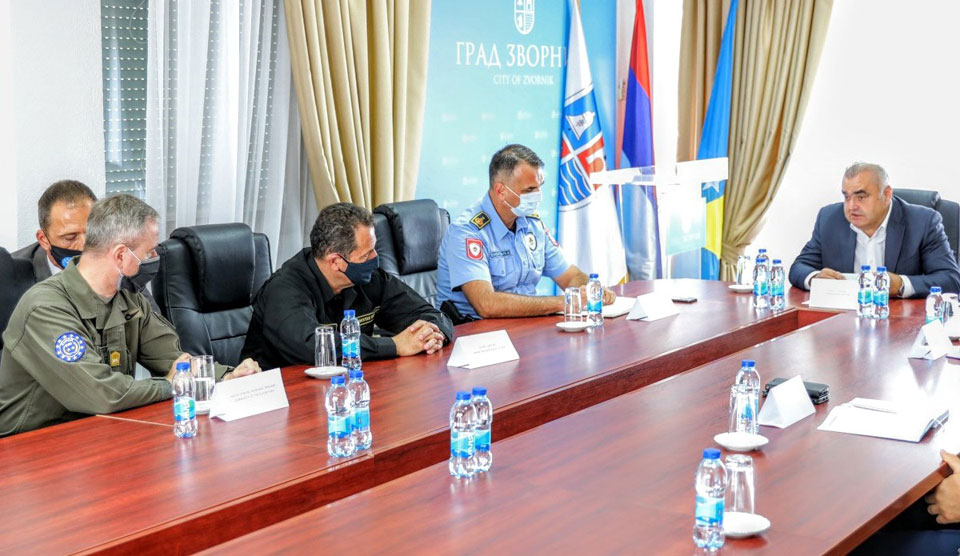 Commander EUFOR and BiH Minister of Security visit Zvornik Border Crossing